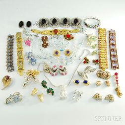 Large Group of Designer Costume Jewelry
