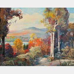 Frank Earle Schoonover (American, 1877-1972)      Below Franconia Notch, New Hampshire
