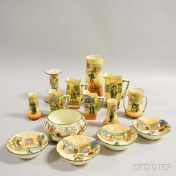 Fourteen Pieces of Royal Doulton Ceramic Dickens Ware