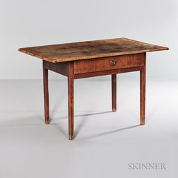 Red-painted Maple and Pine Tavern Table