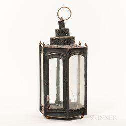 Black-painted Hexagonal Lantern