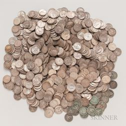 Large Group of Mostly Washington Silver Quarters
