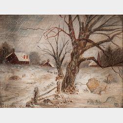 Marion Cornelia Tibbetts (American, b. 1875)      Snowy Landscape