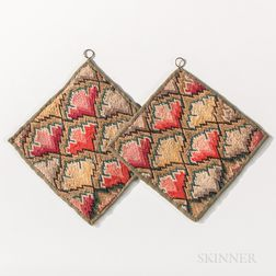 Pair of Flame-stitch Pot Holders