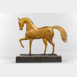 Molded Sheet Copper and Zinc Prancing Horse Weathervane