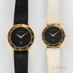 Two Gucci Fashion Wristwatches