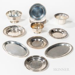 Approximately Twenty-one Pieces of American Sterling Silver Tableware
