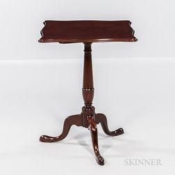 Fine Carved Mahogany Tilt-top Candlestand