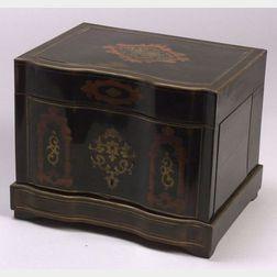 Napoleon III Rosewood and Brass Inlaid Ebonized Tantalus