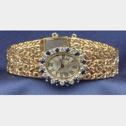 Sapphire and Diamond Wristwatch, Tiffany & Co.
