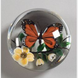 Rick Ayotte Butterfly Glass Paperweight