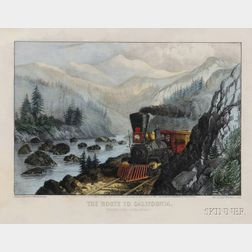 Currier & Ives, publishers (American, 1857-1907)      The Route to California.  Truckee River Sierra-Nevada.