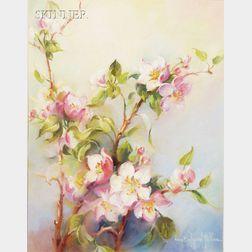 Nana Bickford Rollins (American, 1886-1959)      Three Floral Studies: Tulips, Poinsettias