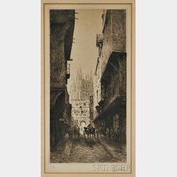 Richard George Mathews (Canadian, 1870-1955)      Mercury Lane, Canterbury