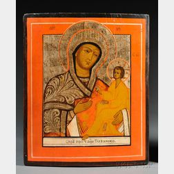 Russian Icon of Tikhvin Mother of God