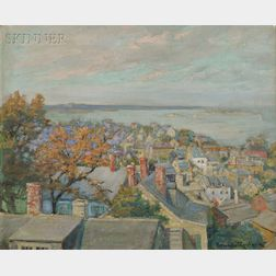 Orlando Rouland (American, 1871-1945)      Looking Over Old Marblehead