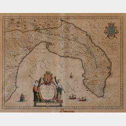 Italy, Salento. [Johannes Jansson] Terra di Otranto olim Salentina et Iapigia