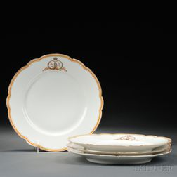 Four Porcelain Plates Commemorating the Wedding of Grand Duchess Olga   Alexandrovna and Prince Peter of Oldenburg