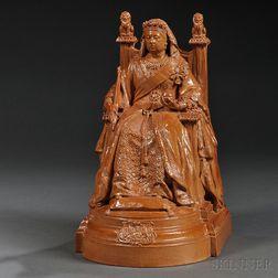 Doulton Lambeth Stoneware Figure of Queen Victoria