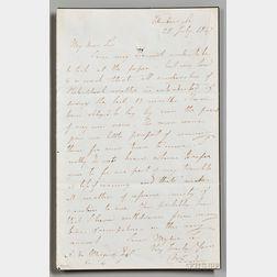 Faraday, Michael (1791-1867) Autograph Letter Signed, Edinburgh, 28 July 1847 [or 1867].