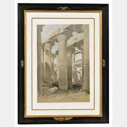 Roberts, David (1796-1864) Five Folio Prints from The Holy Land; and Three Folio Aquatints from Thomas Daniells (1749-1840) Antiquitie