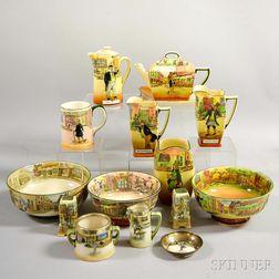 Fifteen Pieces of Royal Doulton Dickens Ware.     Estimate $300-500