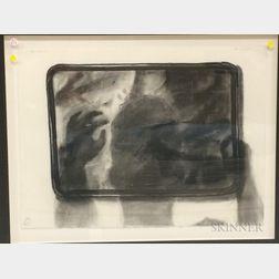 Ken Beck (American, b. 1943)      Three Works on Paper: Cookie Sheet Drawing II
