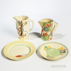 Four Clarice Cliff Items