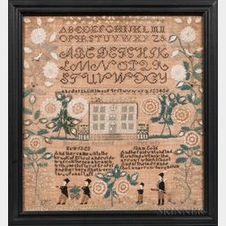 "Needlework Sampler ""Mary Ann Babcock,"""