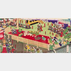 Utagawa Toyonobu (1859-1886), Triptych Woodblock Print