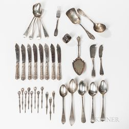 Group of American Silver Flatware