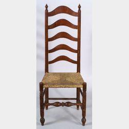 Turned Maple Slat Back Side Chair