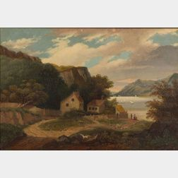 American School, 19th Century    Hudson River View