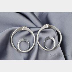 Artist-Designed Sterling Silver Earrings, Art Smith