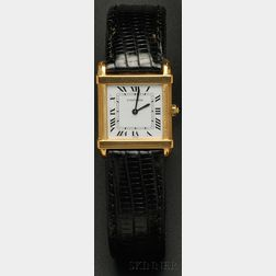 "18kt Gold ""Tank Chinoise"" Wristwatch, Cartier, Paris"