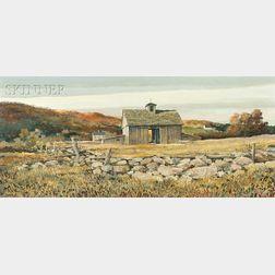Eric Sloane (American, 1905-1985)      Autumn Browns
