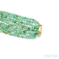 18kt Gold and Chrysoprase Bracelet, Gabriella Kiss