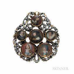 Portrait Miniature and Enamel Pendant