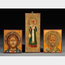 Three Small Russian Icons