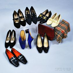Group of Designer Women's Shoes and Accessories