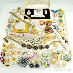 Large Group of Designer Costume Jewelry and Accessories