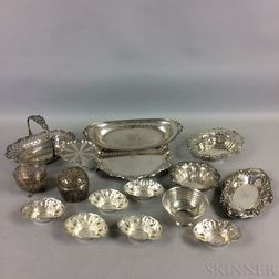 Sixteen Pieces of Sterling Silver Tableware