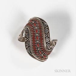 B.B. Betoney Silver Cuff Bracelet