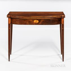 Federal Inlaid Cherry Card Table