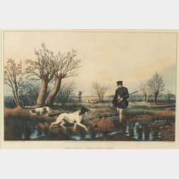 Nathaniel Currier, publisher (American, 1813-1888),    Snipe Shooting.