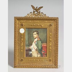 French Miniature on Ivory of Napoleon