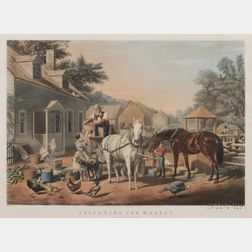 Nathaniel Currier, publisher (American, 1813-1888)      Preparing for Market.