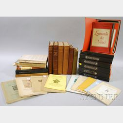 Lot of Antiques and Collecting Reference Books, Early Auction Catalogs, and Museum   Collections