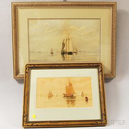 Two Works:      William Paskell (American, 1866-1951), Marine Scene