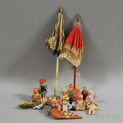 Group of Small Dolls and Accessories